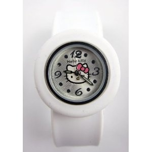 She can't tell time - yet - but my four year old has requested a Hello Kitty watch for her next birthday.