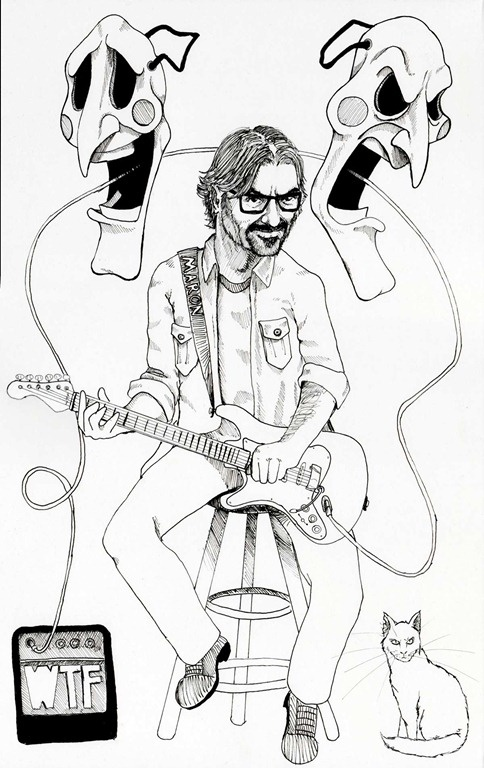 illustration of comedian Marc Maron