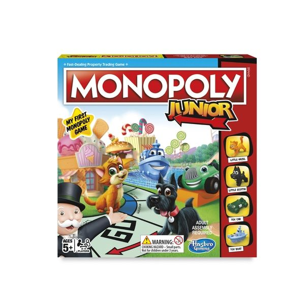 Buy Monopoly Junior Game Online At Smyths Toys Ireland Or Collect In Local Smythstoys We Stock A Great Range Of Hasbro Board Games Board Games Monopoly Hasbro