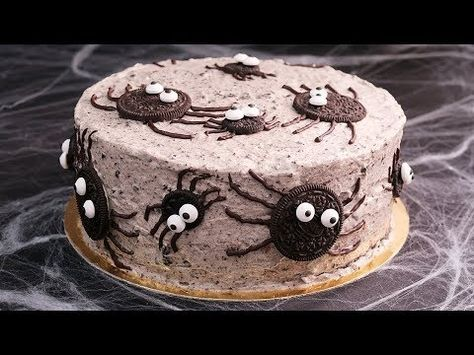 Tarta de Oreo especial Halloween - YouTube