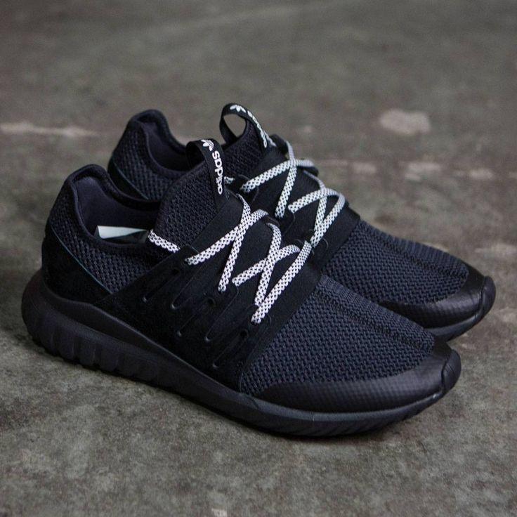 S76717 MEN TUBULAR RADIAL ADIDAS ICE BLACK