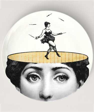 juggling - original design with famous Cavalieri engraving on Melamine Plate, Cavalieri art, Lina Cavalieri theme, Cavalieri variation