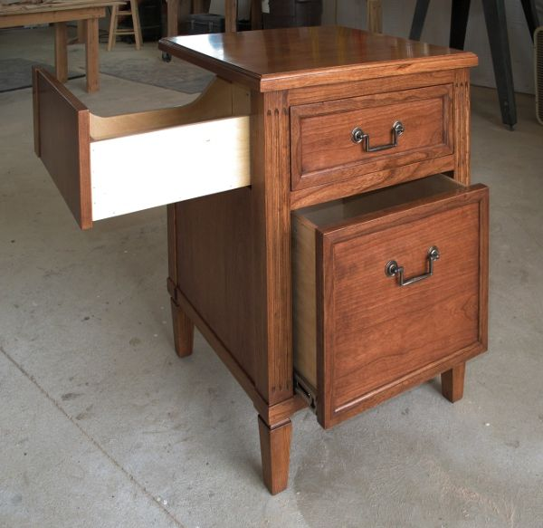 Construction Cherry Nightstand For CPAP Machine