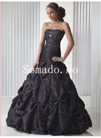 Ball Gown Imperiet Midje Embroidery Ruched Gulv Lengde Ballkjoler