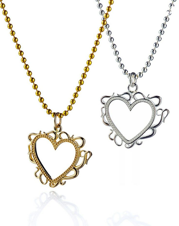 "Carina Blomqvist, ""Hearts"" pendants, in gold and silver. 
