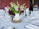 Centre pieces, decorations, details - reception setting