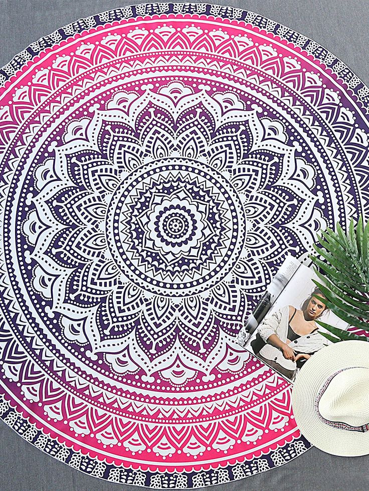 Tribal Print Round Beach Blanket - $16.99. https://www.bellechic.com/deals/242f6683e521/tribal-print-round-beach-blanket