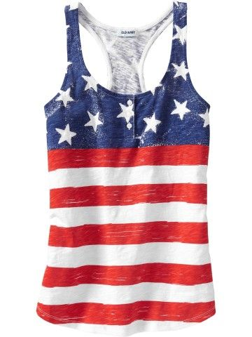 Women's Americana Tanks | Old Navy.. Can you tell I love my country