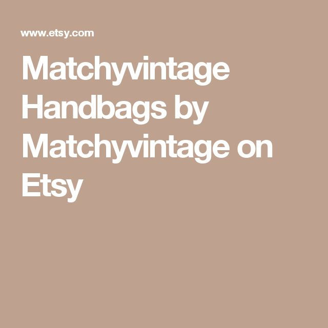 Matchyvintage Handbags on Etsy