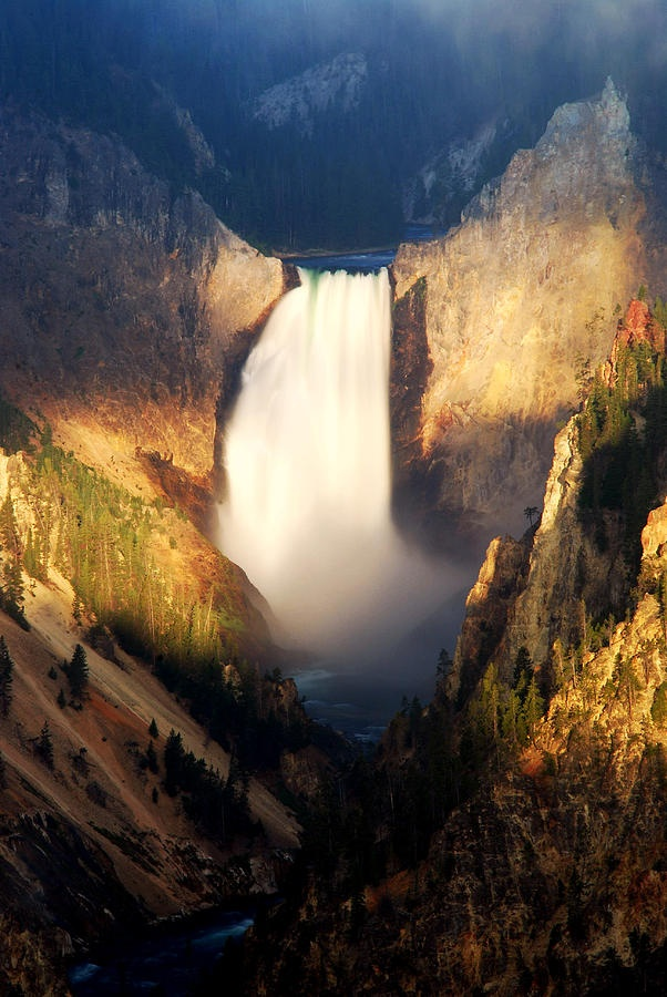 Lower Falls in Yellowstone National Park.....hey marc, remember when we walked down 525 stairs to get a crappy view of this water fall...wonder where the good view was....