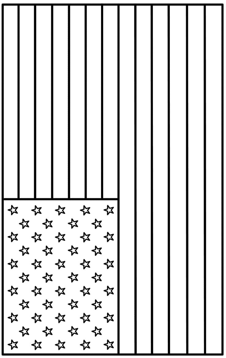 Free coloring page american flag