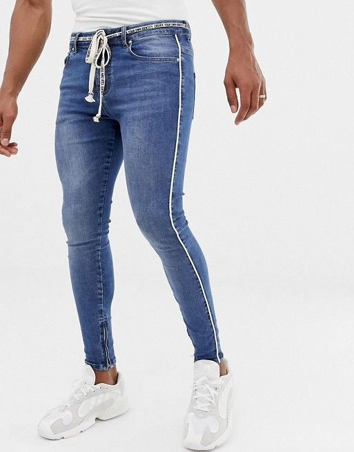 1dcc905a4d The Couture Club skinny jeans with rope belt in 2019   asos men ...