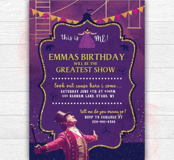 The Greatest Showman Invitation The Greatest Showman Birthday Birthday Party Invitations Party Invitations Circus Birthday Party