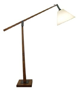 Timber Adjust Arm Floor Lamp