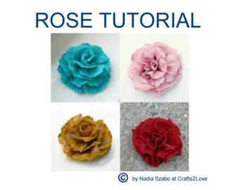 Felted Wool Flower Tutorial  DIY Project  How to Pattern