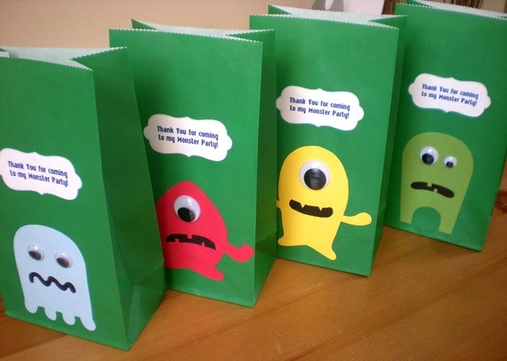 MONSTER Birthday party Favor/Treat bags  by ClaudiaCurtiDesigns, $15.00