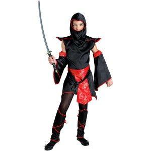 Ninja Mistress στολή Νίνζα για δυναμικά κορίτσια με κοντό φόρεμα και κουκούλα