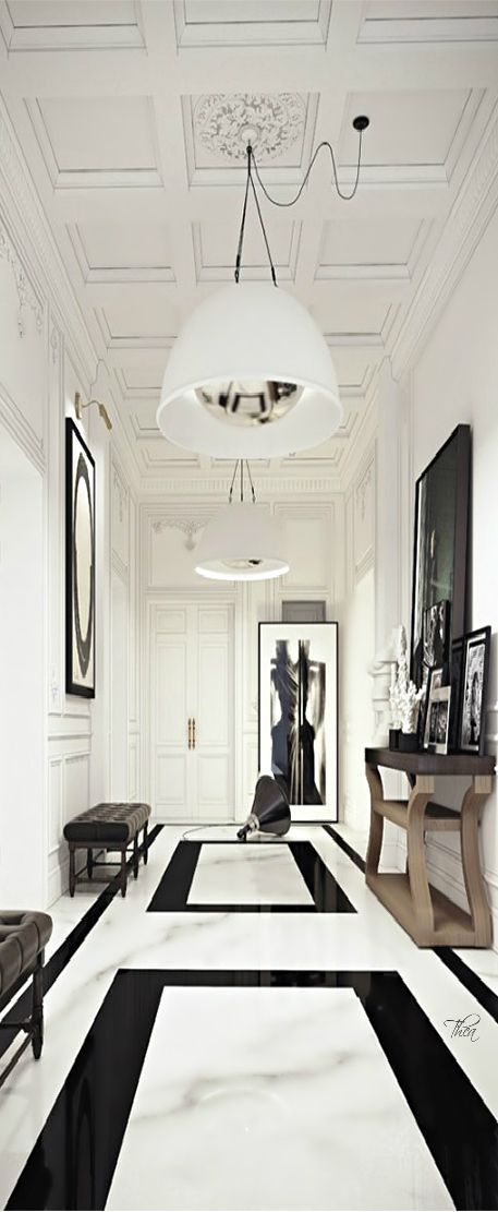 Entryway Decor Ideas #hallwaydesign #modernhallway #luxuryhome modern design, interior design, inspiration. Visit www.memoir.pt