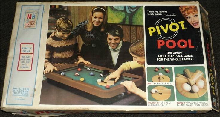 80 S Milton Bradley Toys : Milton bradley pivot pool vintage games