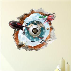 3D Wanduhr Modern Augen Design Lautlos