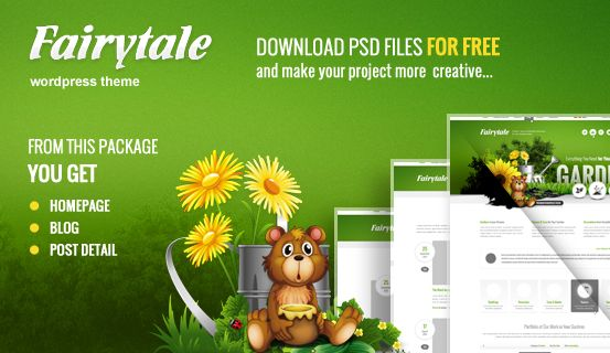 Feel #free to use for your own project this #PSD files of Fairytale #WordPress Theme. Package includes layered Homepage, Blog and Detail Post.