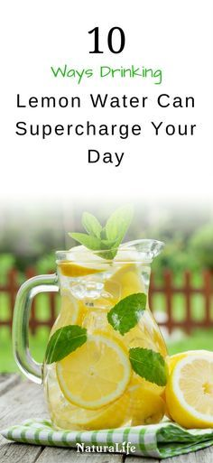 10 Powerful Ways Drinking Lemon Water Can Supercharge Your Day. I personally drink warm lemon water every morning to start my day off right!
