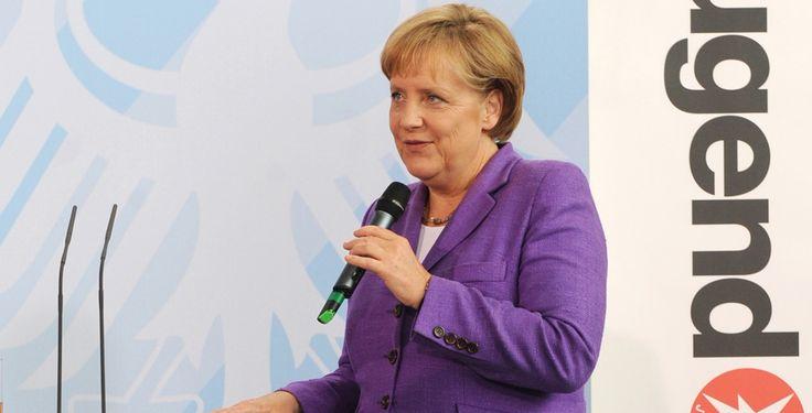 Jugend forscht-Sieger in Berlin - Angela Merkel