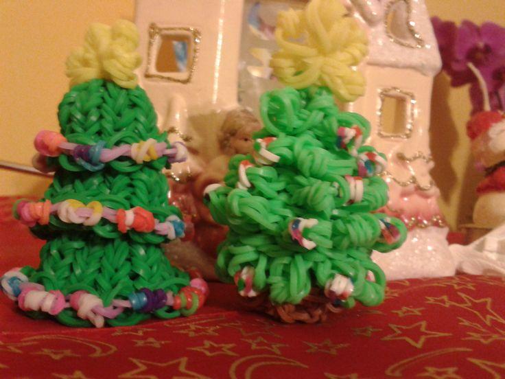 loom bands karácsonyfák