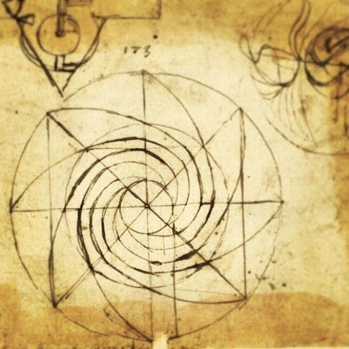 illusion of the square...leonardo da vinci drawing sketch