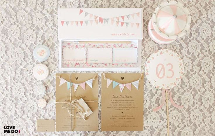 Vintage Shabby Chic Baptism Party Ideas | Photo 1 of 7