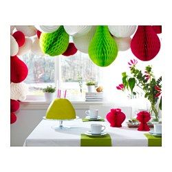IKEA - VISIONÄR, Hanging decoration, A surprising and playful decoration that will be a unique eyecatcher in your home.Perfect for hanging at festive occasions to set that extra party mood.