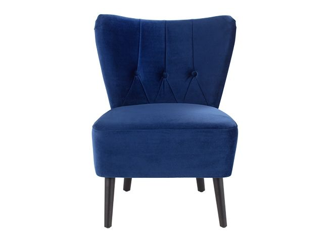 Charley Accent Chair, Electric Blue Velvet