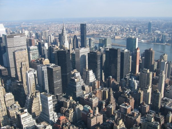 Manhattan from the Empire State Building, NY - Photo by Aimee Kasten
