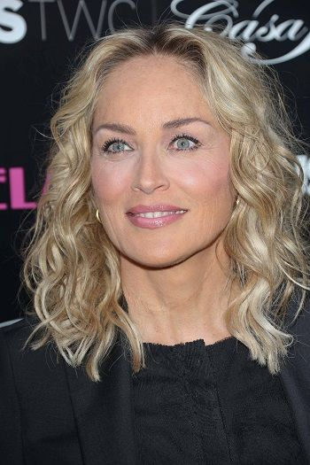 Sharon Stone Long Celebrity Hairstyles For Women Over 50