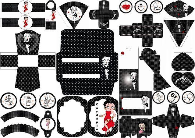 Betty Boop: Free Printable Kit. | Oh My Fiesta! in english