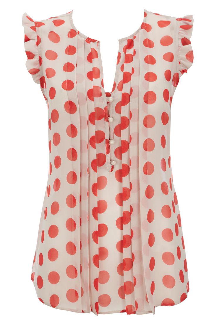Dotty blouse: cute with jeans or a floaty skirt.