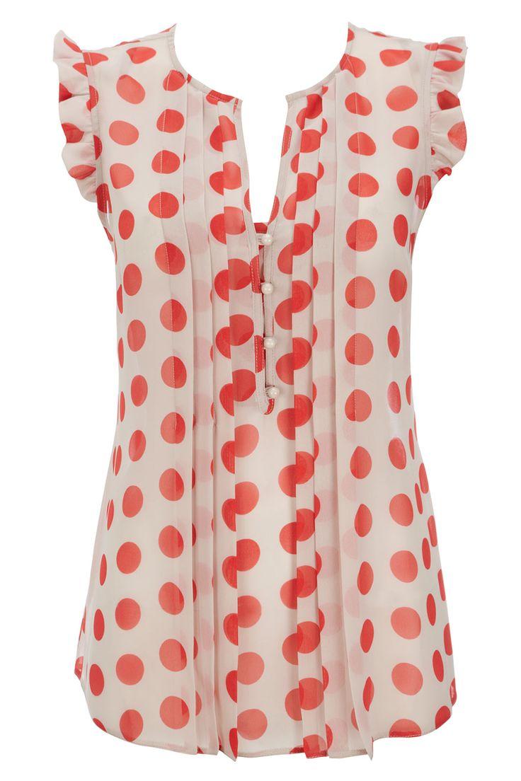 Dotty blouse: cute