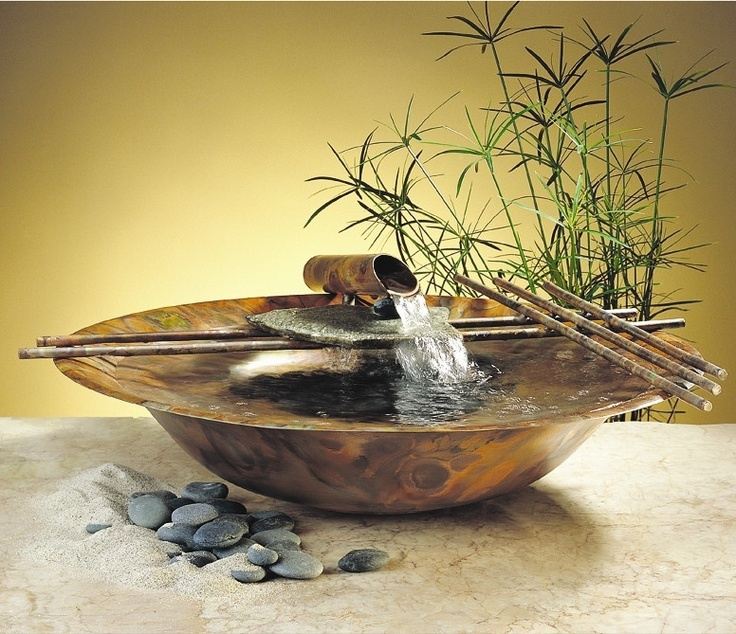 Make Your Own Indoor Fountain 26 best indoor floor fountain images on pinterest indoor fountain the nature bowl 606 tabletop fountain is an elegant copper and bamboo creation that brings the serenity of asian design to your tabletop in a contemporary workwithnaturefo