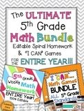 The ULTIMATE 5th Grade Math BUNDLE { Homework & Games for