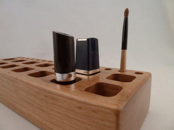 Wooden Lipstick Holder Lipstick Organizer/Caddy Lip