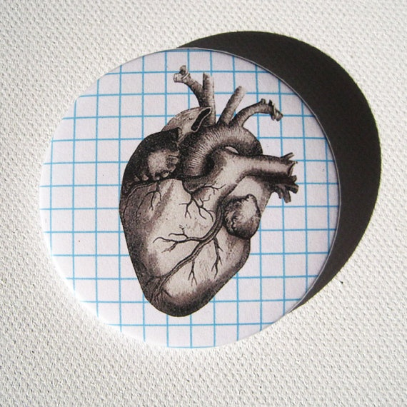 Grey's Anatomy Valentine Heart Head Large Button by nicedaydesigns, €2.50