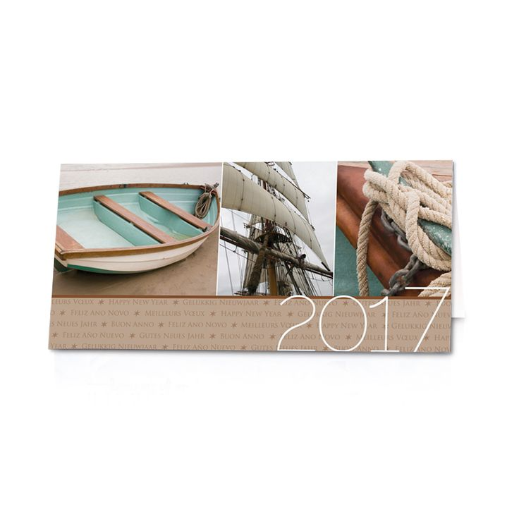 """Ausgefallene Neujahrskarten """"Segelschiff"""""""