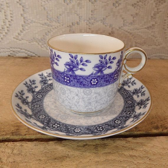 Blue Wedgewood Cup And Saucer 42