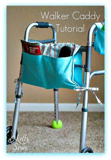 How to Sew a Walker Tote Caddy - Free Sewing Tutorial by Melly Sews