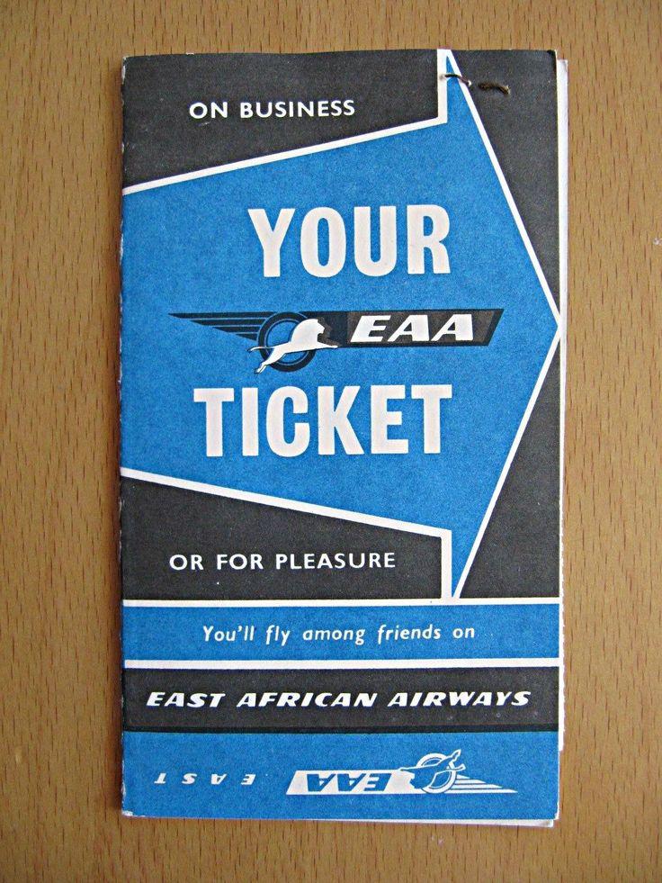 EAA Passenger Ticket Jacket 1961