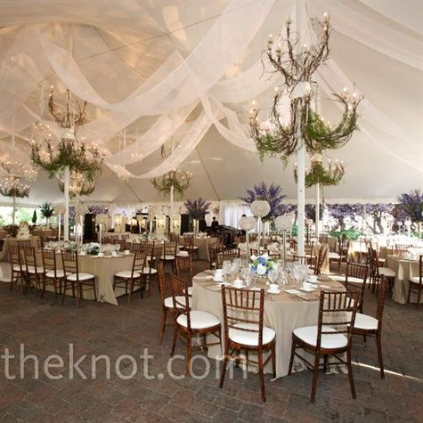 Swaths of fabric hung from the tentu0027s ceiling for a romantic look and greens added & 124 best Tent Decorating images on Pinterest | Big top Fiesta ...