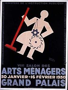 ¤ Francis Bernard (1900-1979) Affiche Arts ménagers (1930) 8e Salon des Arts Ménagers au Grand Palais. 30 janvier au 16 février 1930.