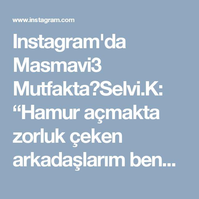 """Instagram'da Masmavi3 Mutfakta🔘Selvi.K: """"Hamur açmakta zorluk çeken arkadaşlarım benden pratik #börek tarifi istemislerdi ❣Simdi unutun tüm zor börekleri ,lezzetiyle dokusuyla…"""" • Instagram"""
