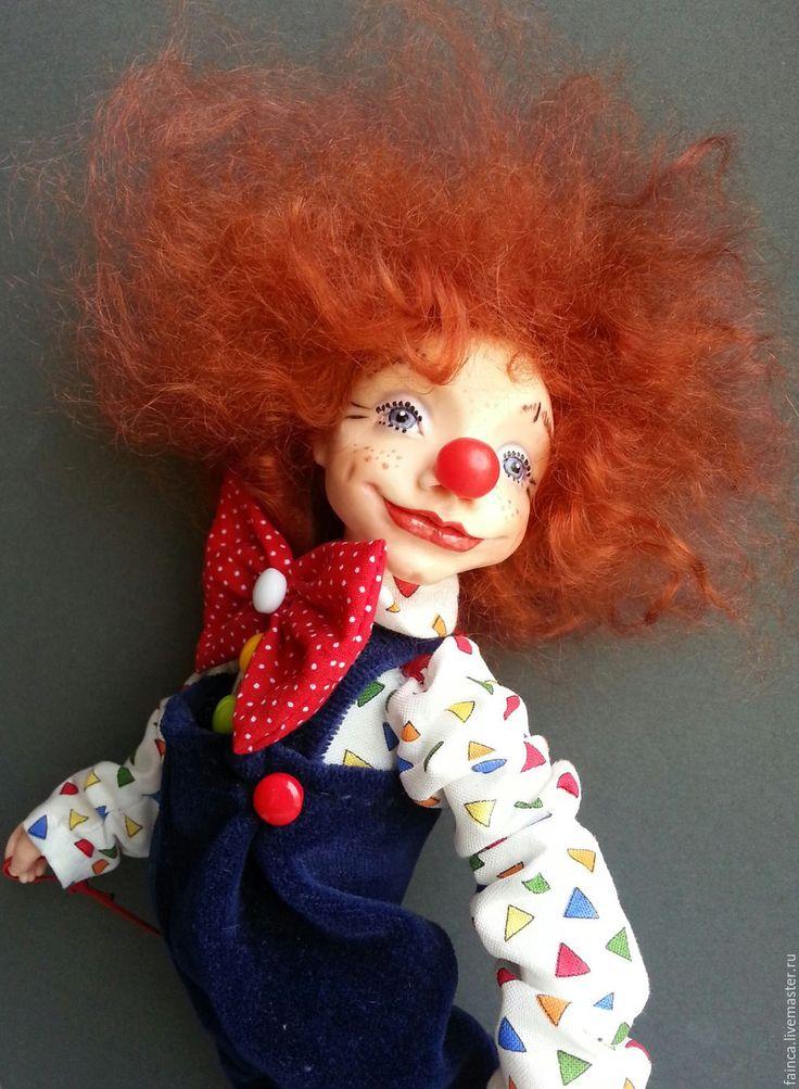 Купить Авторская кукла. Рыжий Клоун. - рыжий, клоун, цирк, шапито, веселый, рыжий мальчик