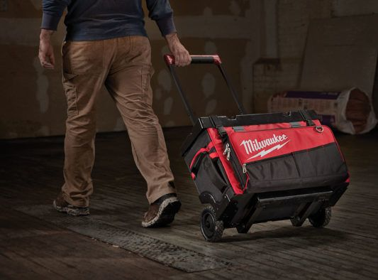 Milwaukee Josbite Rolling Bag Announced  Need a sturdy and durable way to transport tools and accessories around the jobsite? You'll want to check out the new Milwaukee Rolling Bags!   #NBHD #MilwaukeeTool #construction #remodeling #renovation #electrical #plumbing #tools #toolstorage   https://www.protoolreviews.com/toolboxes-storage/milwaukee-jobsite-rolling-bag-announced/28081/